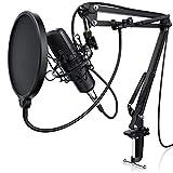 LIAM & DAAN Kondensator Mikrofon + Mikrofonarm Set XLR | Studiomikrofon | Großmembran...