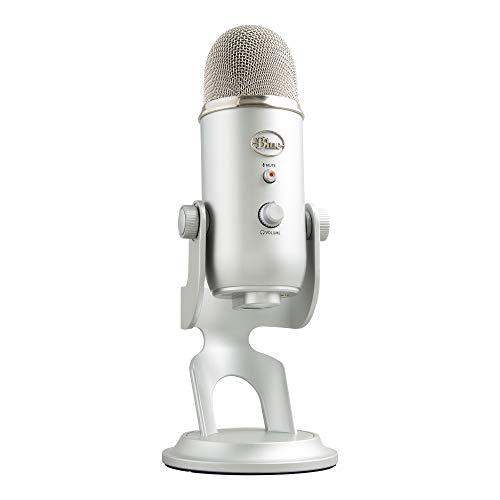Blue Microphones Yeti USB-Mikrofon für Aufnahme und Streaming auf PC und Mac, verstellbares Stativ,...