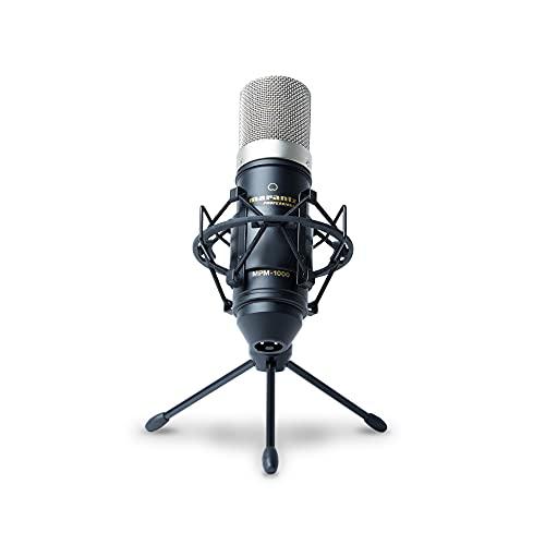 Marantz Professional MPM1000 - Großmembran Kondensatormikrofon mit Pop Schutz Filter, Shockmount,...