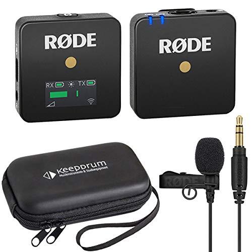 Rode WIGO Wireless GO Mikrofon-Funksystem + Lavalier Go + keepdrum Soft-Case
