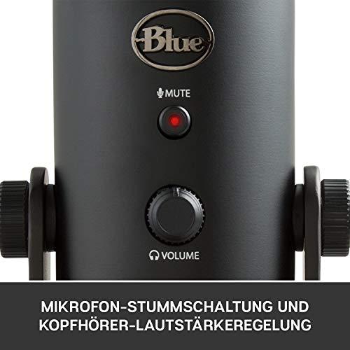 Blue Microphones Yeti USB-Mikrofon (für Aufnahme und Streaming auf PC und Mac, Drei...