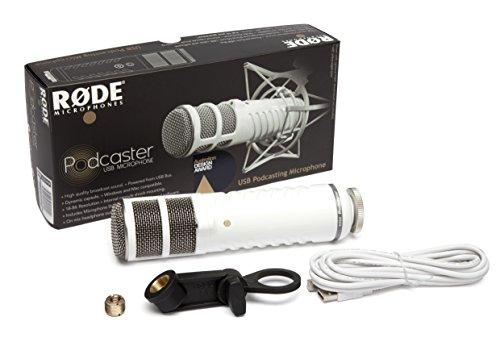 Rode Podcaster Dynamisches Großmembranmikrofon mit USB-Anschluss für Mac und PC
