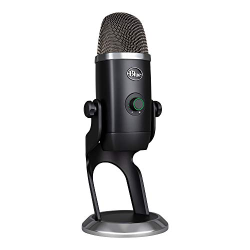 Blue Microphones Yeti X Kondensator-USB-Mikrofon mit hochauflösender Messung, LED-Beleuchtung,...