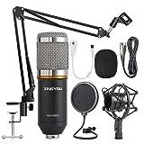 ZINGYOU Kondensator Mikrofon Set, BM-800 Studio Tisch Professionell Mikrofon mit Arm...