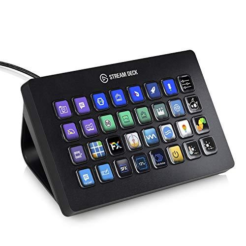 Elgato Stream Deck XL, Fortschrittliche Stream-Steuerung, 32 frei Anpassbare LCD-Tasten, für...