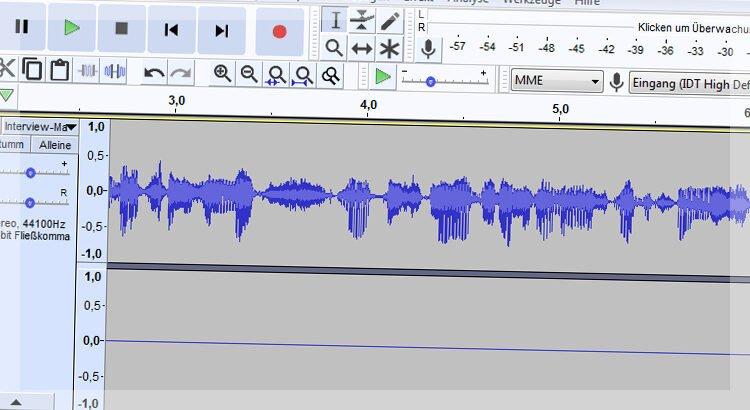 Warum nimmt mein Mikrofon nur mono auf?