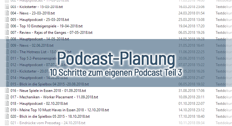 Podcast-Planung – 10 Schritte zum eigenen Podcast Teil 3
