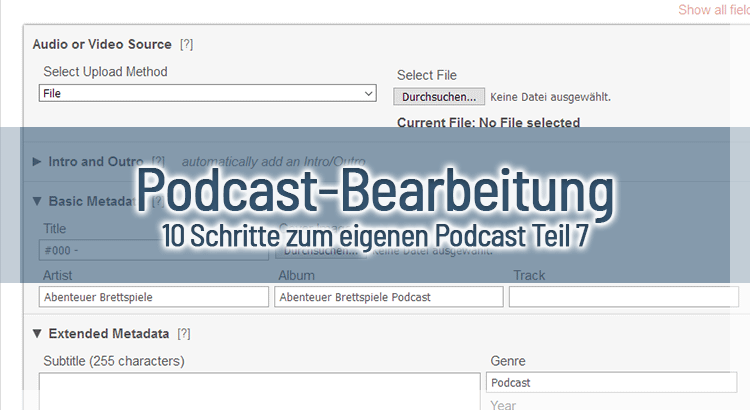 Podcast-Bearbeitung