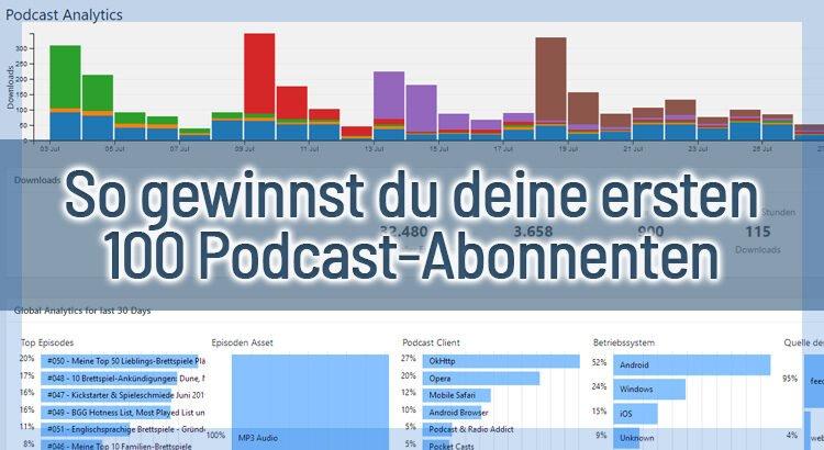 So gewinnst du deine ersten 100 Podcast-Abonnenten – 16 Tipps