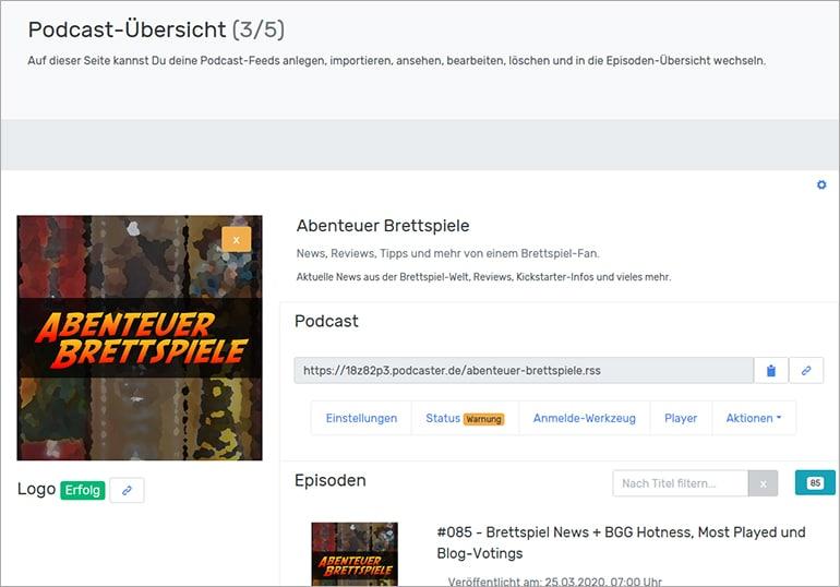 Podcaster.de Podcast Hosting