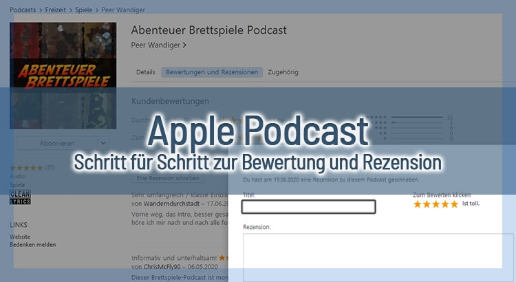 Podcast Bewertung bei Apple – Schritt für Schritt zur Rezension