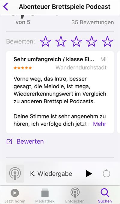 Apple Podcast Bewertung Schritt für Schritt iPhone