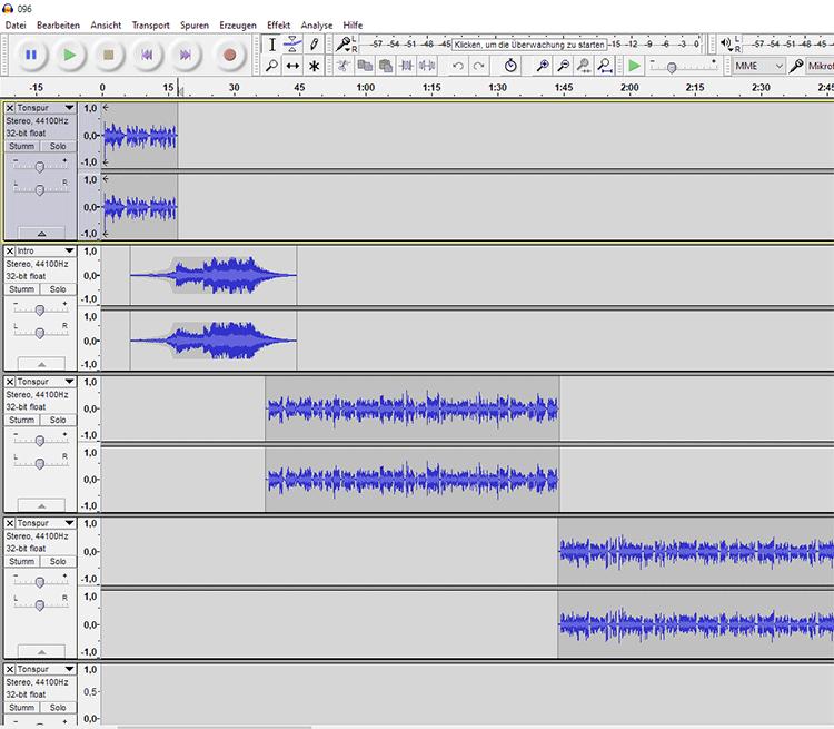 Aufnahme des Podcasts