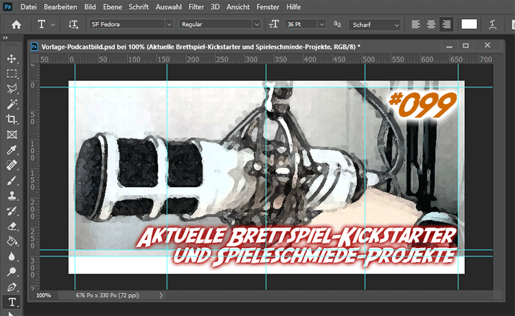 Episoden-Cover in Photoshop CC - Podcast Workflow