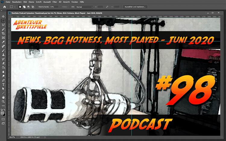 Podcast Episoden Thumbnail in Photoshop
