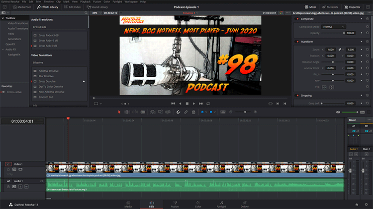 Podcast Video mit DaVinci Resolve