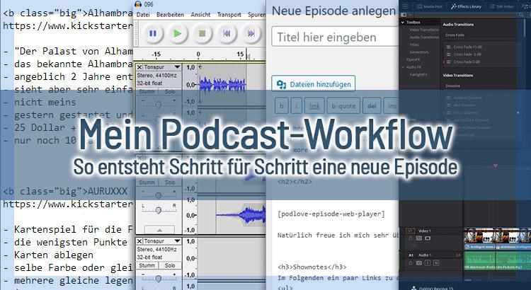 Mein Podcast-Workflow – So entsteht Schritt für Schritt eine neue Episode