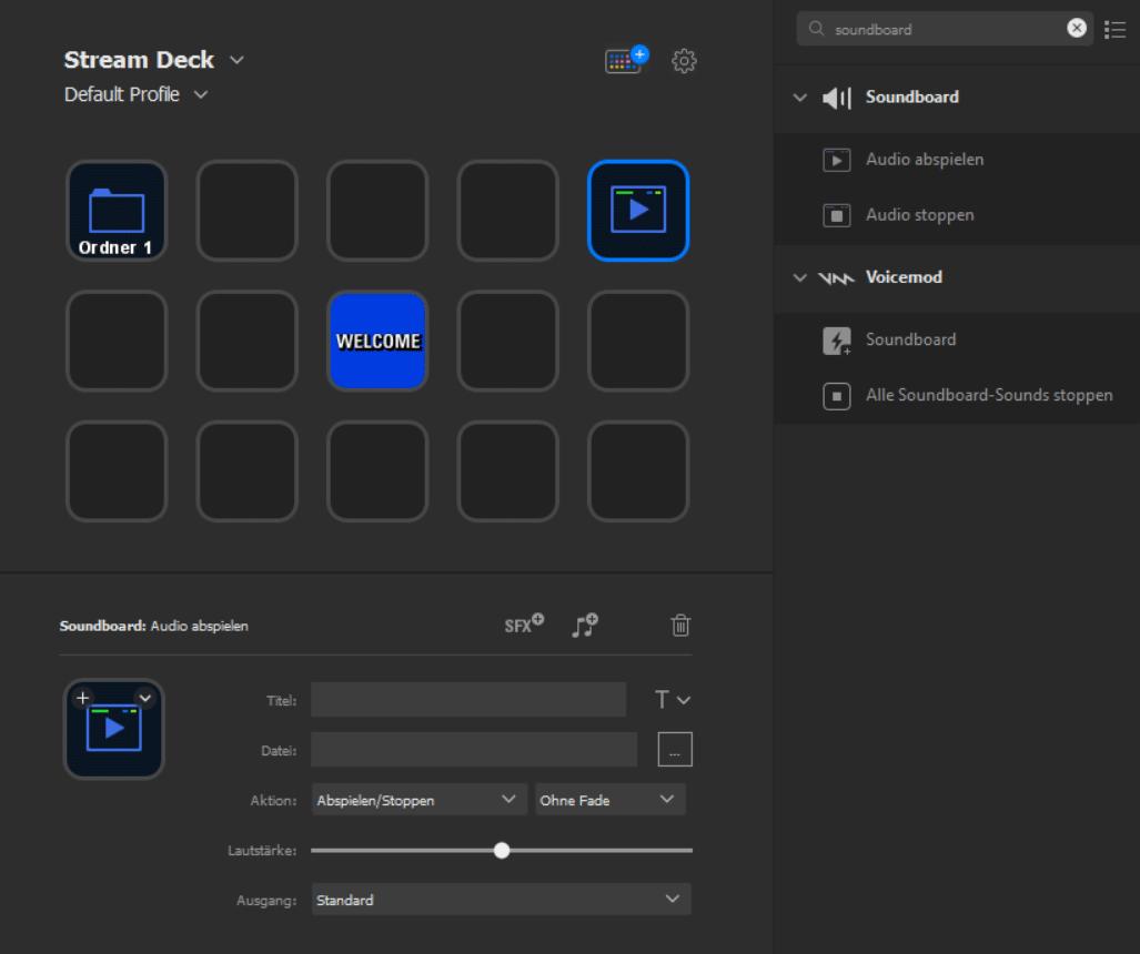 Elgato Stream Deck - Audio abspielen Aktion